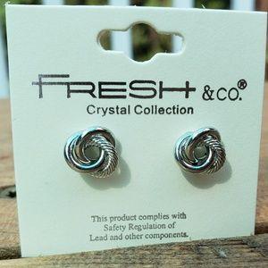 Jewelry - Metal Knot Stud Earrings